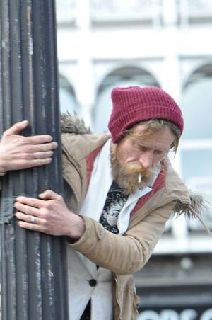 Obdachloser in Dublin