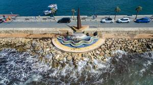 Obelisk am Port Andratx in Puerto de Andraitx, Mallorca
