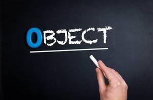Object text on blackboard