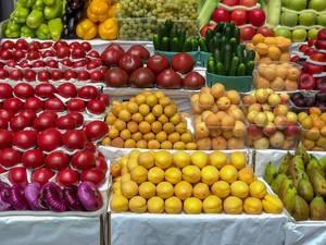 Obst und Gemüse auf dem Danilovsky Market in Moskau