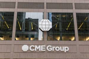 Offices of the CME Group (Chicago Mercantile Exchange Center) in Downtown Chicago