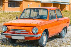 Old cars ZAZ-968M orange color (Flip 2019)