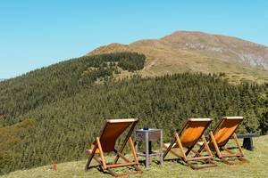 "Old Mountain - ""Babin Zub"", Serbia, Chairs on the Field With Beautiful View"