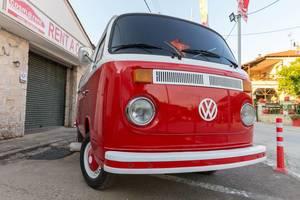 Old Volkswagen van as a rent-a-car vehicle