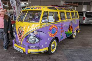 Oldtimer and Vintage car Volkswagen T1 designed by MotorWorld, dedicated to the wild 60s and 70s hippie movement