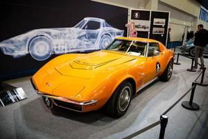 """Oldtimer Chevrolet Corvette 72 LT-1 auf der Ausstellung """"Die Wilden 70er"""" bei der IAA 2017"""