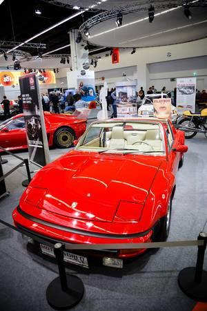 """Oldtimer VW-Porsche 914/6 auf der Ausstellung """"Die Wilden 70er"""" bei der IAA 2017"""