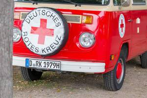 Oldtimer VW van owned by Red Cross Germany