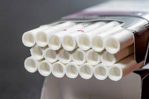 Open pack full of cigarettes closeup (Flip 2019)
