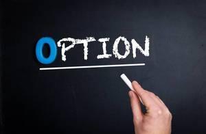 Option text on blackboard