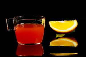 Orange winter punch, German drink