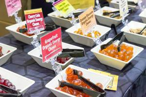 Organic Energy Chews in verschiedenen Geschmacksrichtungen