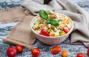 Orzo Salad with Tomato and Cucumber  (Flip 2019)
