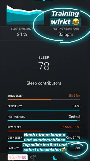 Oura App misst Schlafeffizienz und Ruhepuls durch das Smartphone