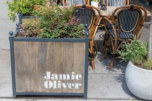 Outside Tables of Jamie Oliver Restaurant Jamie