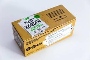 Packung von zehn Beyond Meat veganischen und glutunfreien Burger-Pastetchen