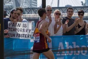 Pain is temporary run faster - London Marathon 2018