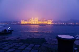 Palace of Parliament, Budapest, Hungary, night view