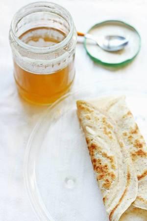 Pancake mit Honig
