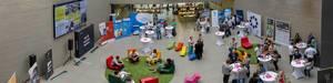 Pano des Besucherbereichs beim Barcamp 2018 Koblenz