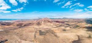 Panorama of a deserted landscape / Panorama einer verlassenen Landschaft