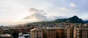 Panorama of Genova suburbs / Panorama von Genova Vororten