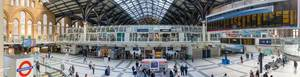 Panorama of Liverpool Street station in London