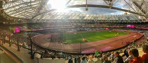 Panorama view of IAAF world championship 2017 at London Olympic stadium