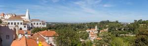 Panoramafoto der Stadt Sintra