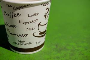 Paper cup of coffee,close up