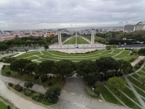 Park in Lissabon, Portugal
