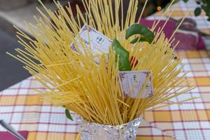 Pasta - Spaghetti im Mamma Roma Restaurant in Rom