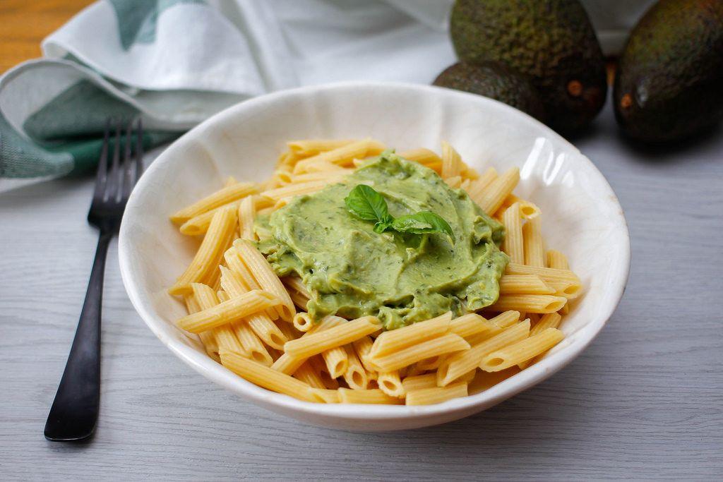pasta with avocado pesto