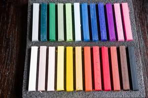 Pastel chalk crayon set