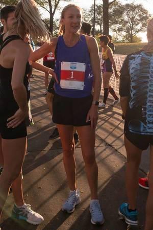 Paula Radcliffe nach dem Chicago 5K am 07.0.2017