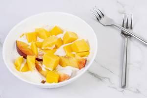 Peaches and Mango in the Greek Yogurt (Flip 2019)