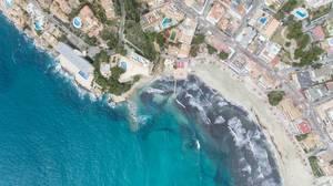Peguera, Mallorca aus der Luft