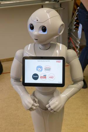 Pepper robot at the digital education day 2018