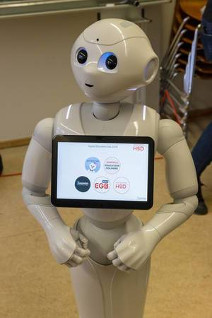 Pepper Roboter auf dem Digital Education Day 2018