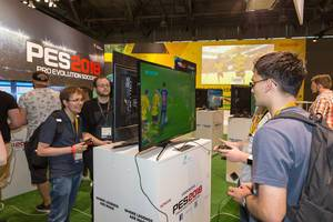 PES2018 Gaming-Ecke – Gamescom 2017, Köln