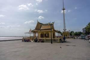 Phnom Penh Promenade am Ufer des Mekong River