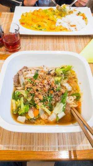 Pho Soup in Vegan Style
