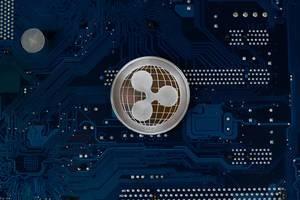 Physische Münze der Kryptowährung Ripple