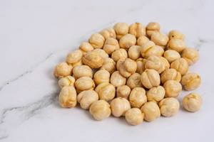 Pile of Chickpeas on the marble table