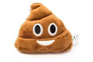 Pillow with face of the pile of poo - Emoji, with white background