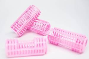 Pink hair curler tubes (Flip 2019)