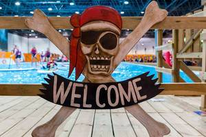 "Pirate Sign ""Welcome"" and SUP"