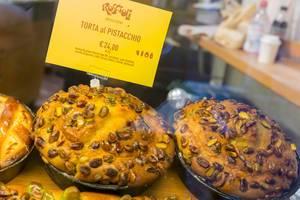 Pistazienkuchen bei der Roscioli Bäckerei in Rom