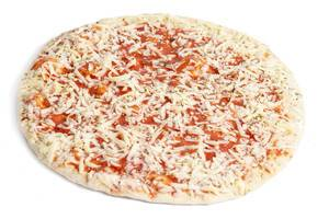 Pizza Margharita isolated above white background