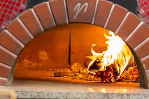 Pizza oven in a pizzeria in Moscow